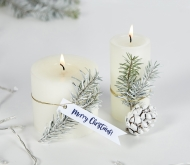 White Christmas labels