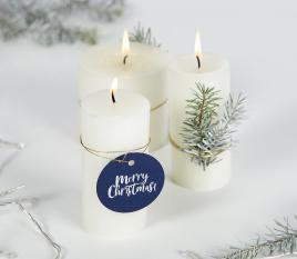 Blue Christmas labels