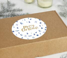 Pegatina para caja navidad