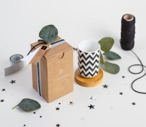 Geschenkschachtel für Tassen ohne Henkel