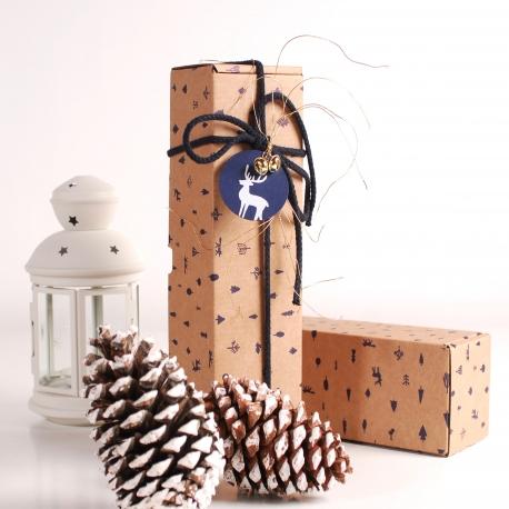 Caja vino navideña