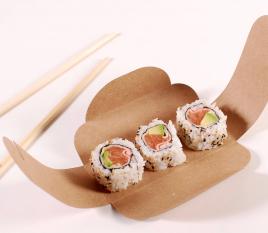 Elegante Kartonschachtel für Sushi