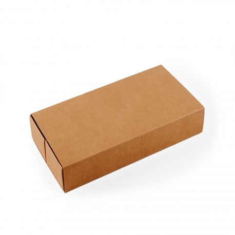 Long cardboard box for sushi with sleeve