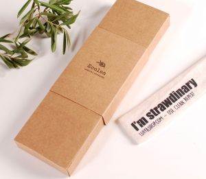 Box for reusable straws