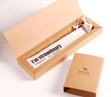Caja para pajita reutlizable