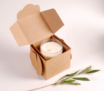 Caja para velas artesanales