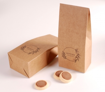 Biodegradable box for biscuits