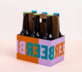 Caja para cervezas con asa