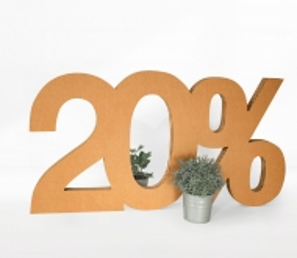 Percentage Cardboard Numbers