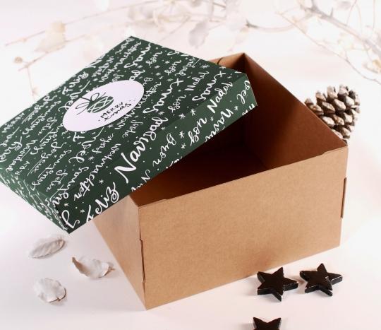 Caja para sombreros navideña