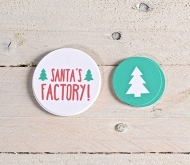 Christmas gift label kit. Santa & Christmas tree