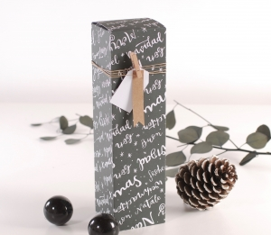 Caja individual navideña para vinos