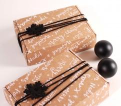 Caja rectangular para envío navideña