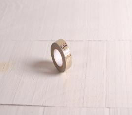 Washi tape gris con estampado dorado