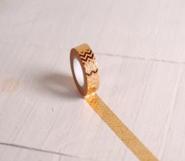 Gold zig-zag washi tape