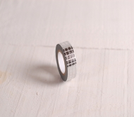 Washi tape with silver squares