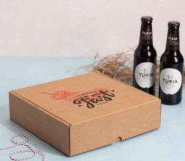 Caja plana con holder para cervezas