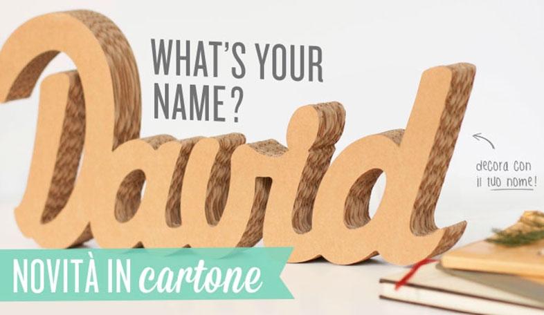 Nome in cartone